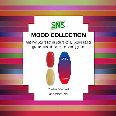 SNS Nail Gelous Colors Mood Changing Collection Dipping Powder NO U/V. NO SMELL