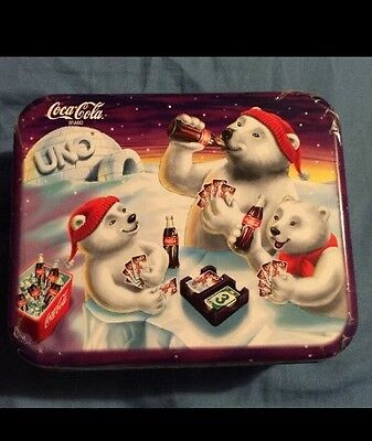 Coca Cola 1998 Special Edition Uno Game And Collectible Tin (New Sealed)