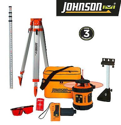 Johnson Self-Leveling Rotary Laser System Kit - FREE SHIPPING