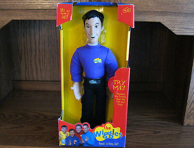 "THE WIGGLES Talking JEFF DOLL ORIGINAL Figure Doll Toy 15"" NEW RARE"