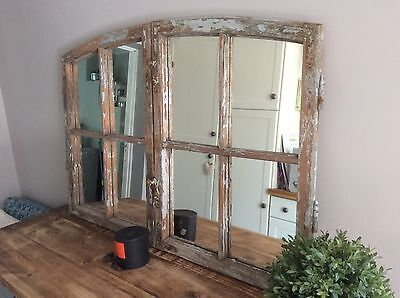 Antique French Mirrored Window Frames Vintage Architectural Salvage
