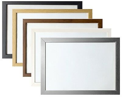 Picture Photo Frame Large Maxi Poster Frames Wood Effect Black White Oak Silver