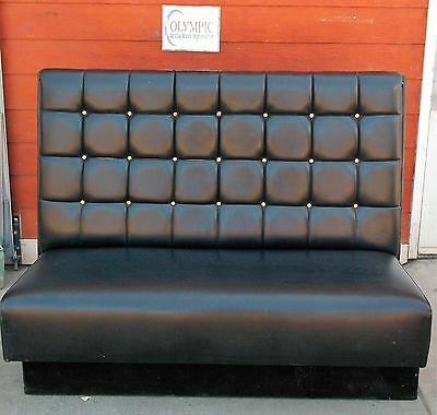 Beautiful Black Vinyl Booths Seating Gently Used Reconditioned