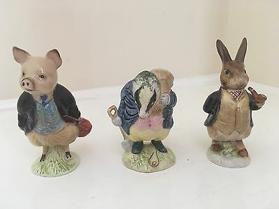 Beswick Beatrix Potter Tommy Brook Gold Circle Back Stamp