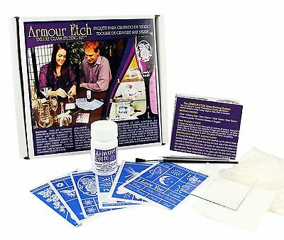 Armour Etch Etching Cream For Glass Kit Liquid Glass Solution Armour Deluxe Best