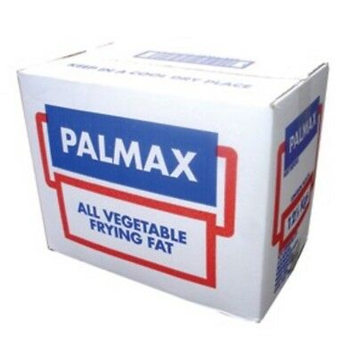 Palmax 12.5kg Pure Vegetable Frying Fat For Chip Shop Cafe Restaurant - Palm Oil