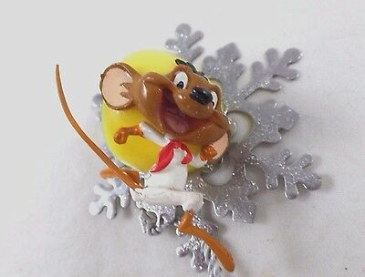 wb PVC Speedy Gonzales Snowflake Mini Ornament Warner Brothers Looney tunes