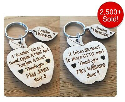 Personalised Teacher Gifts For Teachers Thankyou Nursery Leaving Keyring Gifts
