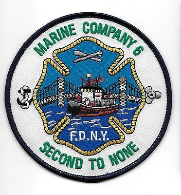 US FDNY NEW YORK MARINE COMPANY 6 FEUERWEHR COLOR Aufnäher Patch Fire