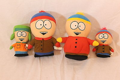 Set of 4 South Park Plush Dolls