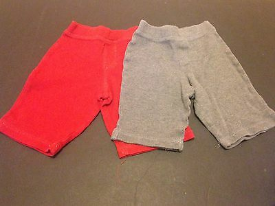 Lot Of 2 George 0-3M Boys Pants In Red And Grey - Free Shipping