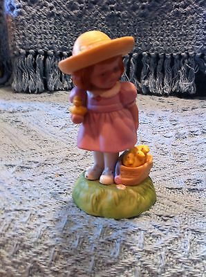 Nos 1985 Avon Limited Edition Girl With Baby Chicks Porcelain Easter Figurine