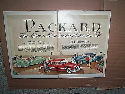 Packard Double Page- Print Ad- The Luxurious Americn's New Choise 1953
