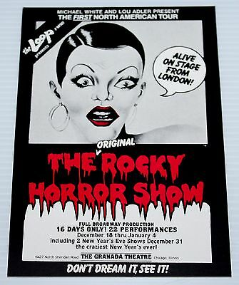 Rocky Horror Show - Large Sticker - Chicago, Usa 1980 Production - Michael White