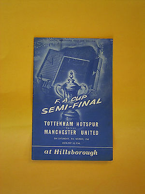 FA Cup Semi-Final - Tottenham Hotspur v Manchester United - 31st March 1962