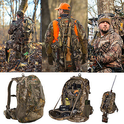 Camo BackPack Hunting Bow Camping Rifle Tactical Hiking Outdoor Travel Bag NEW