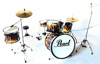 Pearl Drum Set - Batteria in Miniatura - Miniature Drum Set - Mini Bateria
