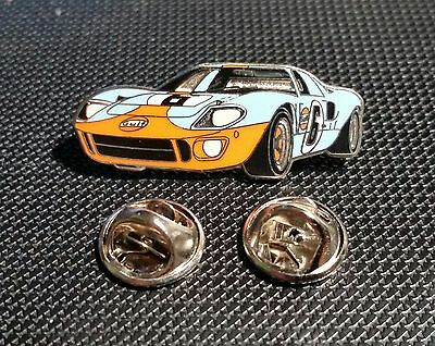 Ford Pin GT 40 Le Mans Gulf emailliert 34x14mm