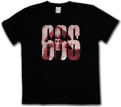 666 ALEISTER CROWLEY T-SHIRT Number Of The Beast OTO Satanic Circle Symbol 777