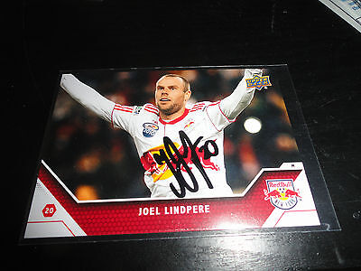 New York Red Bulls Joel Lindpere Autographed 2011 UD MLS Card