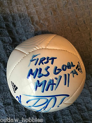Vancouver Whitecaps Russell Teibert Autographed MLS Mini Soccer Ball COA