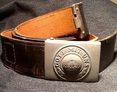 Imperial German, Very Late WW1 Enlisted Man's Belt & Buckle, Kingdom of Prussia
