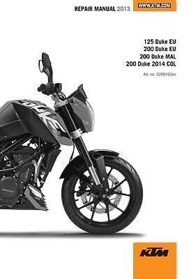 KTM Duke 125 200 Service Repair Maintenance Workshop ***PDF*** Manual 2013 2014