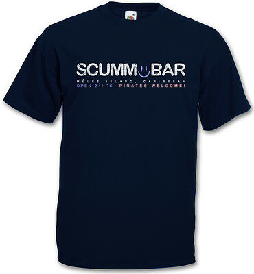 SCUMM BAR T-SHIRT The Secret of Monkey Island Adventure Game Escape From