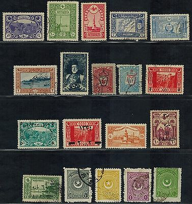 TURKEY early stamps (65) Used & MH (1916-1940) Postage