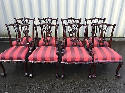 Sets Of 8 & 10 Exquisite Chippendale Style Chairs Pro French Polished