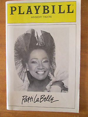 RARE Patti Labelle 1986 Playbill Minskoff Theater BROADWAY NYC -R&B DIVA!