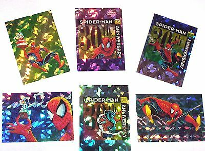 1992 SPIDER-MAN SERIES 2 30th ANNIVERSARY Complete chase insert PRISM Card Set!