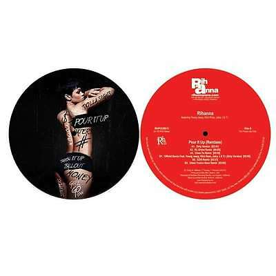 "Rihanna "" Pour It Up "" 12"" Promo ** Coloured Vinyl ** 6 Mixes Young Jeezy Ross"