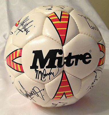 Middlesbrough FC autographed mitre ball with 13 signatures (91/92 season)