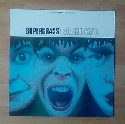 "SUPERGRASS  -Promotional 12"" x 12"" Card (Flat) I SHOULD COCO (ideal for framing)"