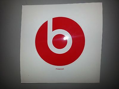 Genuine Vinyl Decal Sticker for Beats Headphones by Dr. Dre (775-00001-00-A) RED