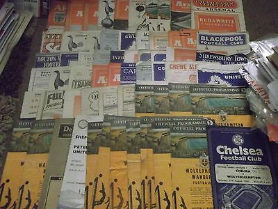 Large Assorted Football Programme Collection 1952 - 1960 X 63 Sub-Standard