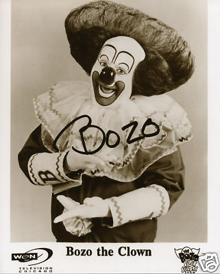 Bozo The Clown WGN Chicago TV Classic Famous Bozo Hair White Gloves MUST SEE