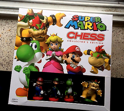 SUPER MARIO Collector's Edition Chess; New & Sealed.