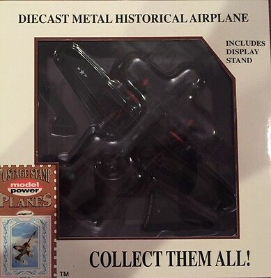 Postage Stamp Planes Model Power No. 5334 P-61 Black Widow With Stand  unopened