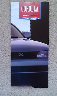 1994-95 Corolla Genuine Toyota Accessories Brochure - 3.75 x 8.5 - 8 Pages