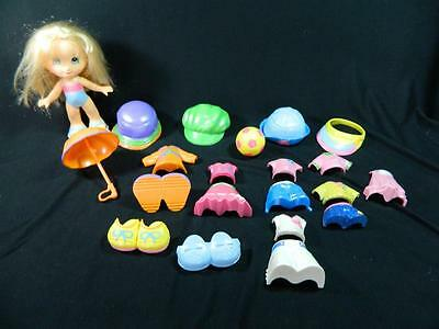 Lot Fisher Price Snap N Style Elena Doll Blonde w/ Clothes 21 pc Playset SWEET