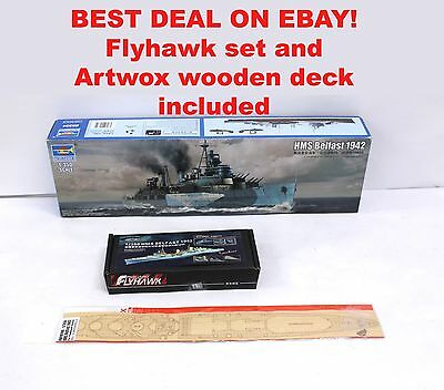 Trumpeter 1/350 HMS Belfast and Flyhawk set/artwox deck