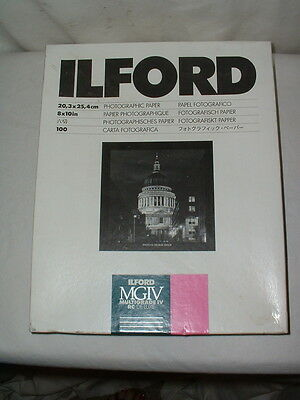 1 Box Ilford 8x10 Glossy Photographic Paper Multigrade IV 100 Sheets Sealed