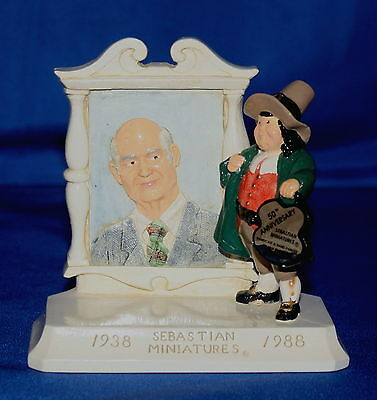 Sebastian Miniatures 50Th Anniversary Limited Edition Signed Plaque