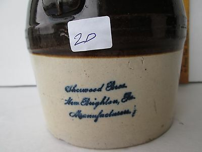 Antique New Brighton PA Quart Whiskey Jug