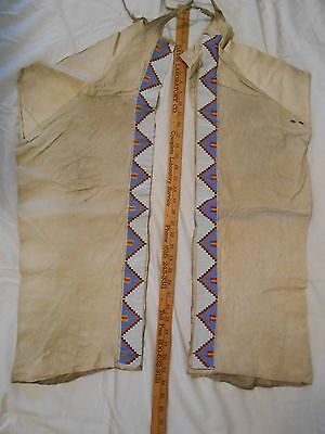 Vintage Leggings & Sioux Native American Costume Pieces+Basket