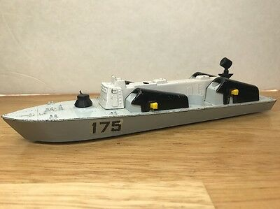 1970's VINTAGE #175 DINKY TOYS DIECAST MILITARY OSA2 MISSILE BOAT SHIP ENGLAND
