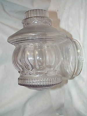 "Vintage Art Deco Clear Outdoor Porch Sconce Light Shade 3"" Fitter"