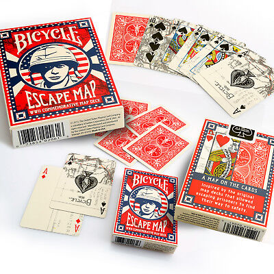 Bicycle Escape Map Playing Cards Single Deck Stunning Design Poker Magic Sealed